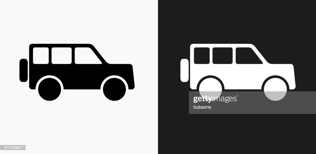 jeep icon on black and white vector backgrounds vector art getty