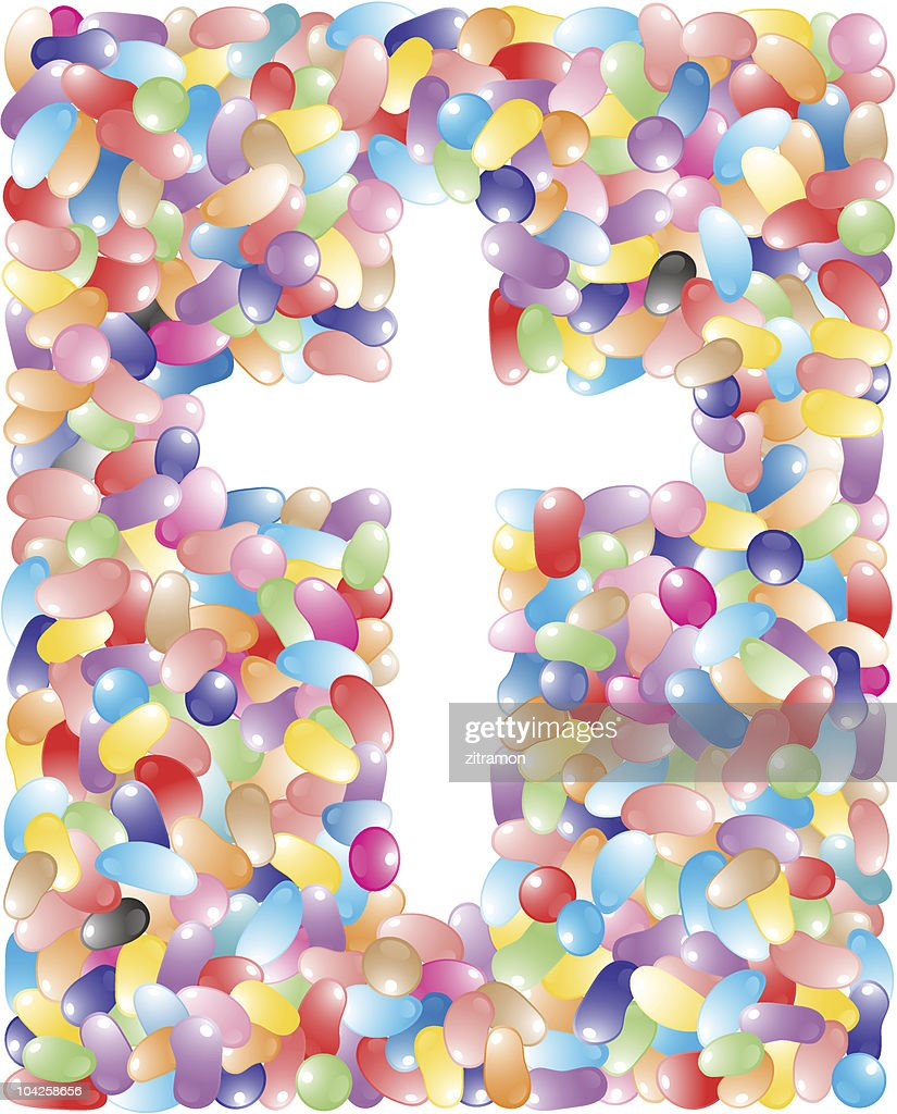 Jelly Bean Easter Cross