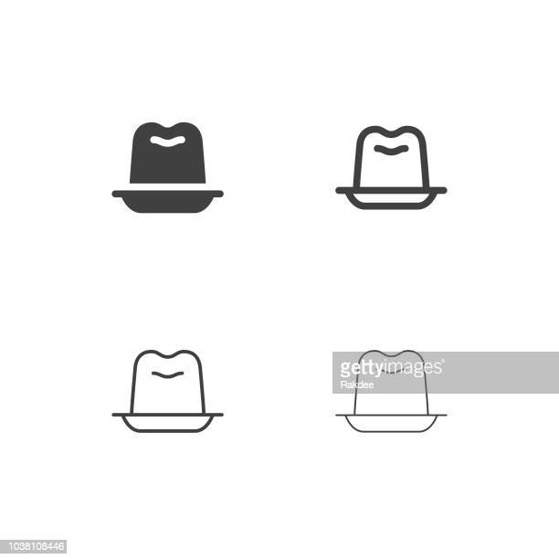 jelly icons - multi series - gelatin dessert stock illustrations, clip art, cartoons, & icons