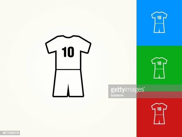 jersey black stroke linear icon - sports jersey stock illustrations