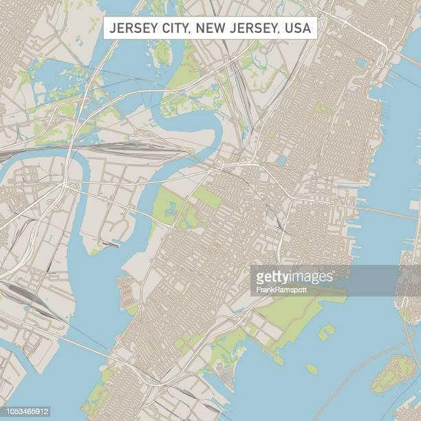 Jersey City, New Jersey USA Stadtstraße Karte