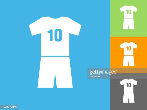 Jersey  Flat Icon on Blue Background