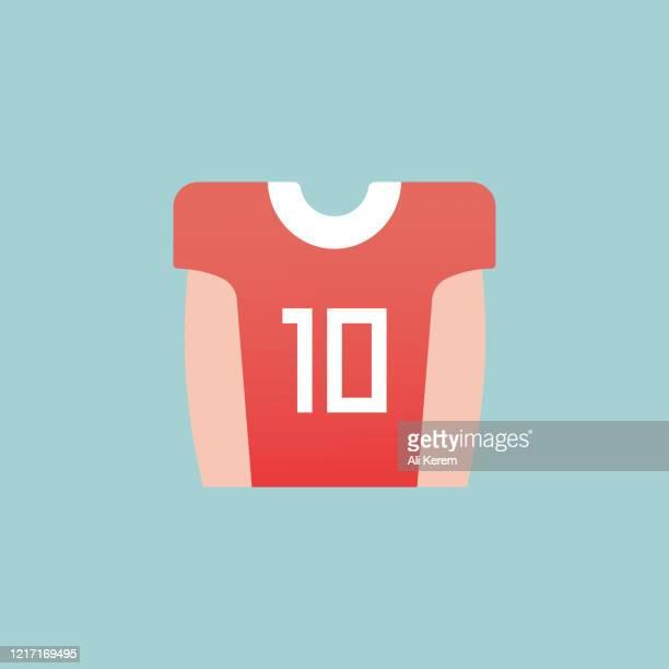 jersey flat icon - jersey fabric stock illustrations