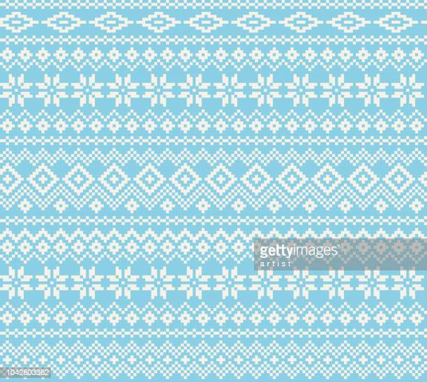 jersey pattern - nordic countries stock illustrations