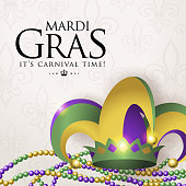 celebrate mardi gras with colorful jester
