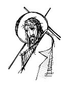 Jesus Christ at his Passion illustration