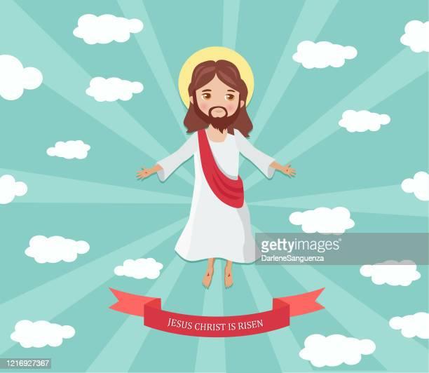 illustrations, cliparts, dessins animés et icônes de jésus-christ est ressuscité - ascension of jesus christ