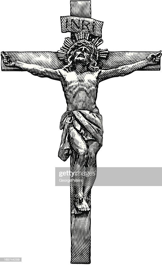 Jesus Crucifixion : stock illustration