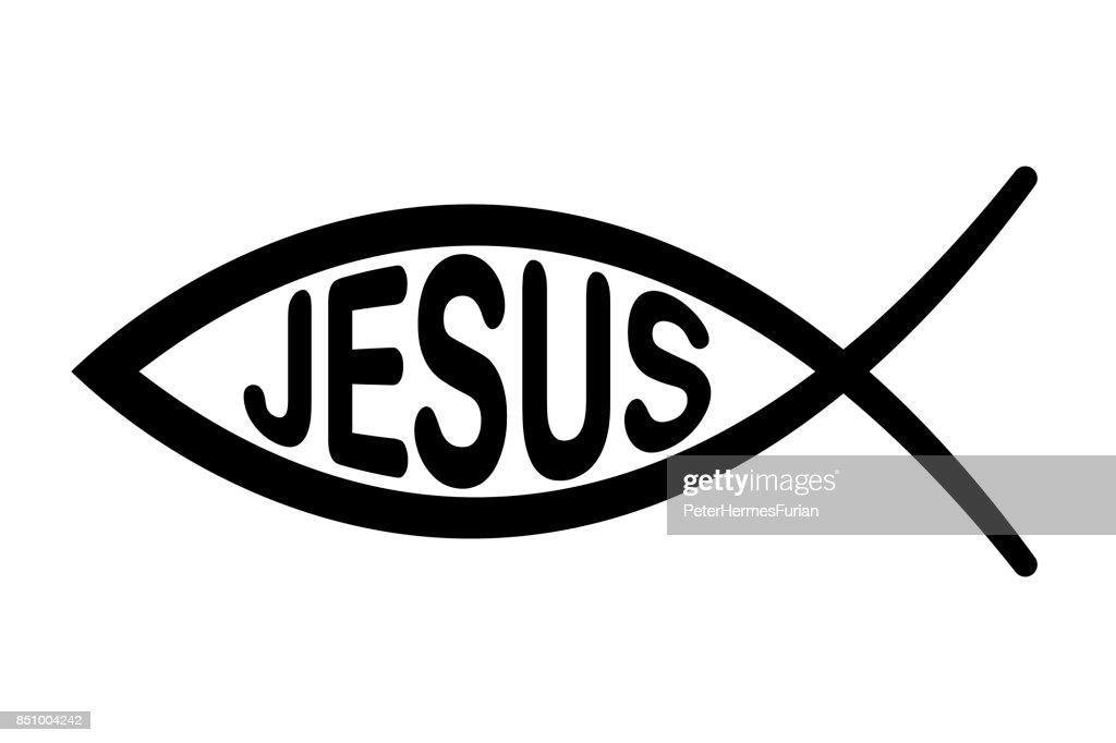 Jesus fish symbol, signo f the fish, Ichthus
