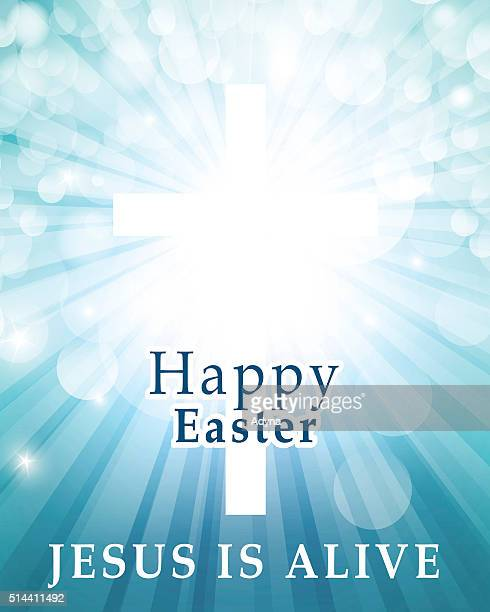 jesus is alive - easter lily stock illustrations