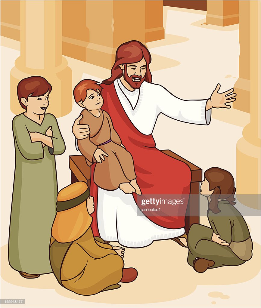 Jesus Said let the children come to me. : Stock Illustration