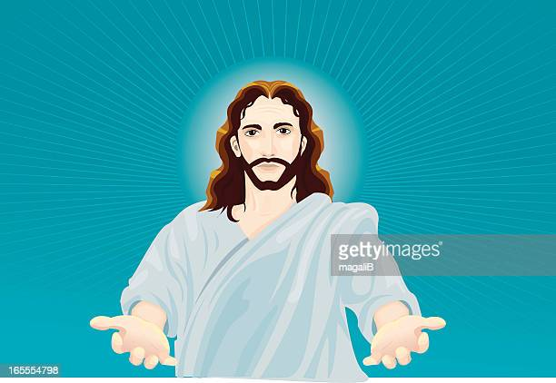 jesus - jesus stock illustrations, clip art, cartoons, & icons