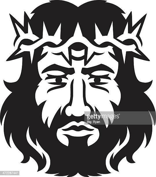 ilustrações de stock, clip art, desenhos animados e ícones de jesus - jesus cristo