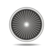Jet Engine Turbine. Vector