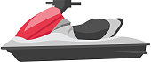 Jet ski vector cartoon illustration