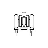 Jetpack smart jetpack icon. Element of future technology icon for mobile concept and web apps. Thin line Jetpack smart jetpack icon can be used for web and mobile