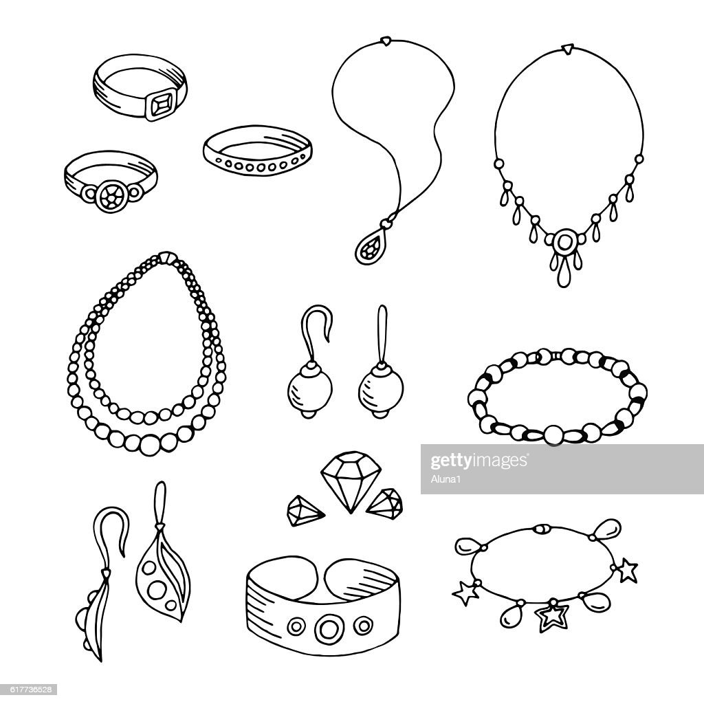 Jewel graphic black white isolated sketch illustration vector