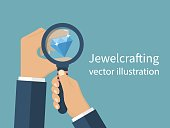 Jewelcrafting concept vector