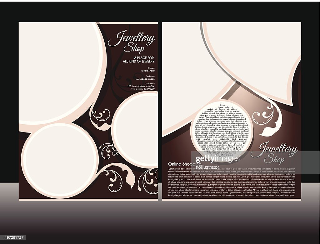 Jewellery Flyer Template Vector Art Getty Images