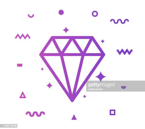 jewellery line style icon design - expense stock illustrations