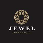 Jewelry company icontype. Jewelry icon. Diamond symbol.