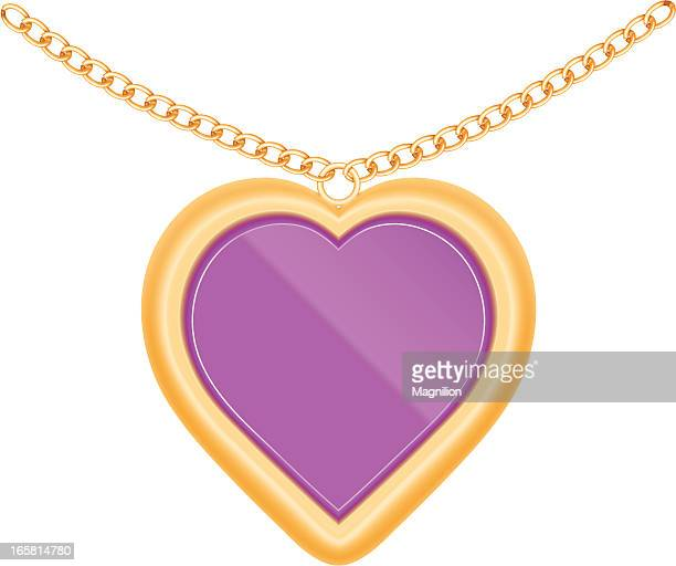 jewelry heart - necklace stock illustrations, clip art, cartoons, & icons