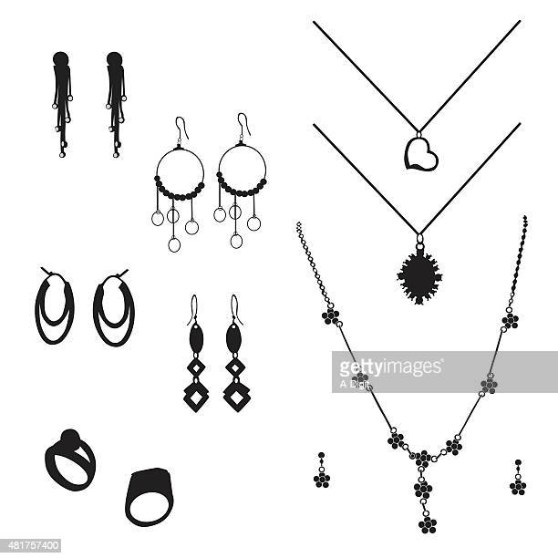 jewelry - necklace stock illustrations, clip art, cartoons, & icons