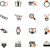 jewerly store icon set