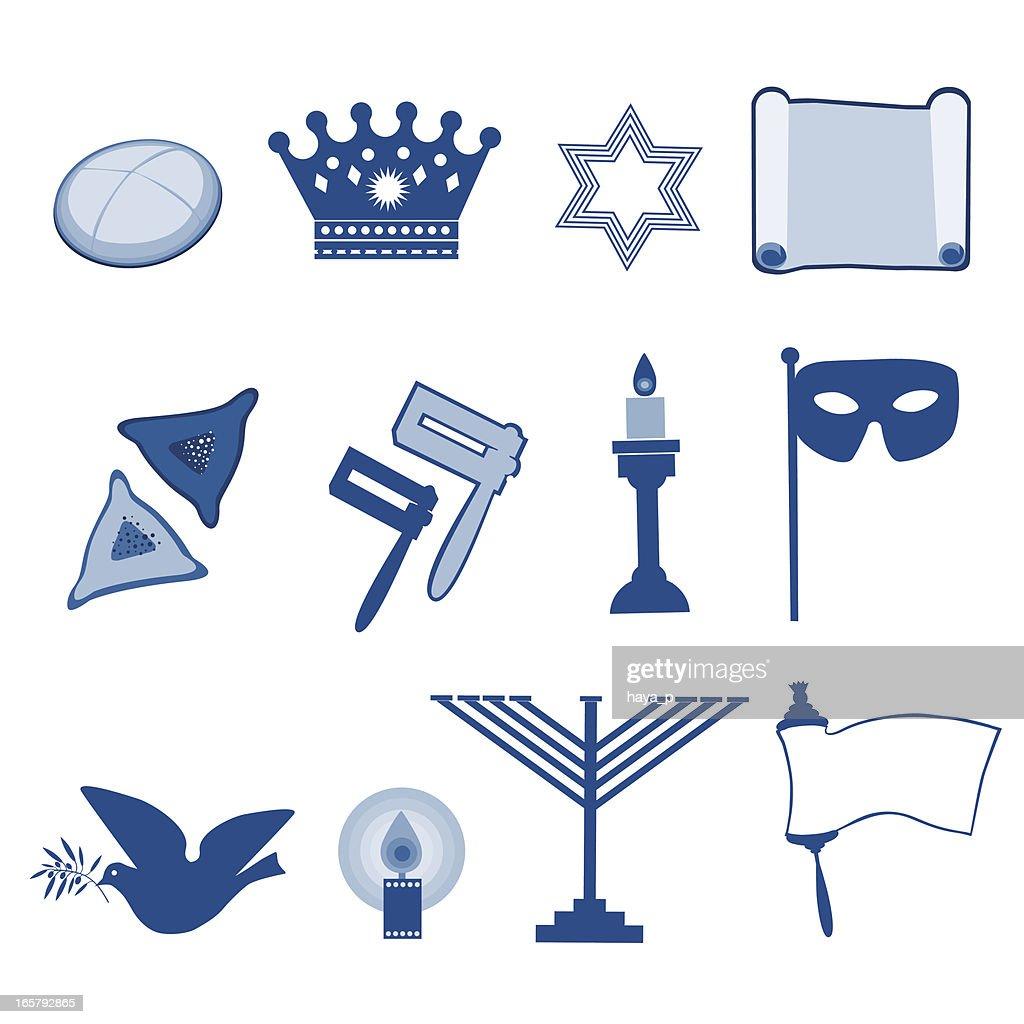 Jewish Holiday Symbols Vector Art Getty Images