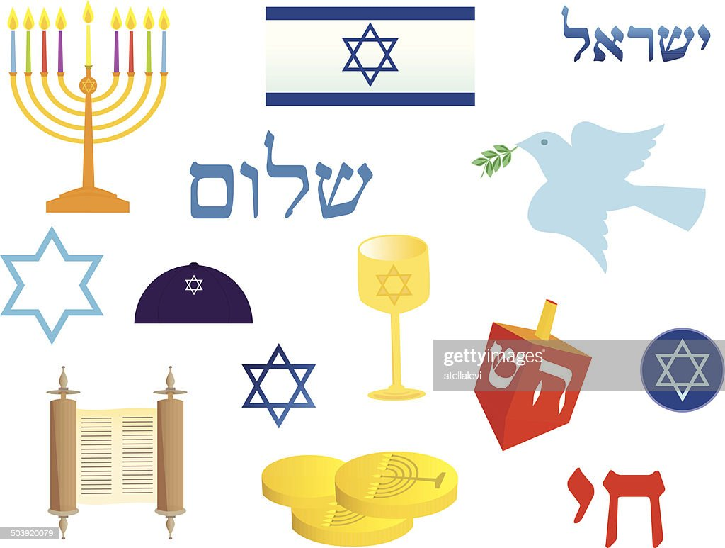 Jewish holiday symbols vector art getty images keywords bar mitzvah biocorpaavc Gallery