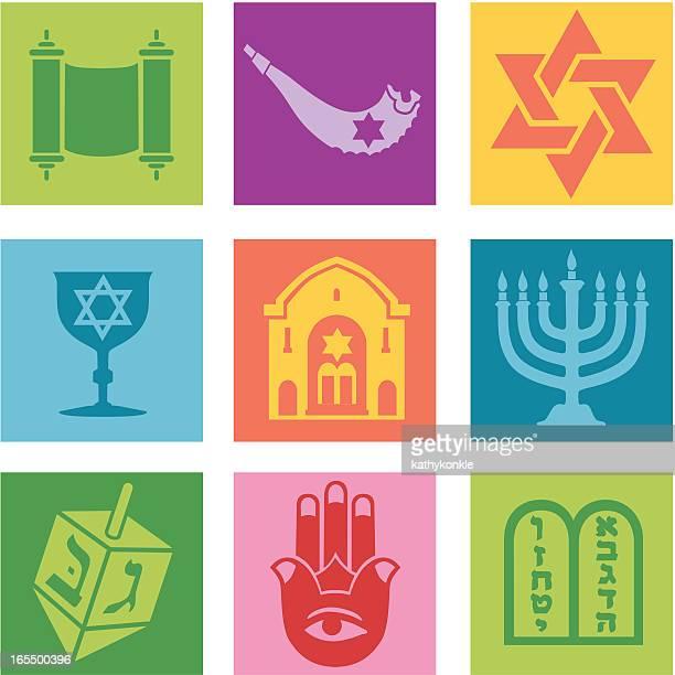 ジェーイッシュアイコン - ユダヤ教点のイラスト素材/クリップアート素材/マンガ素材/アイコン素材