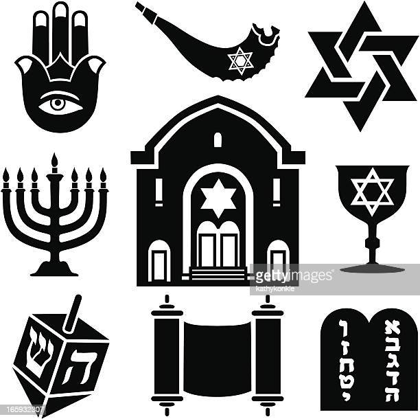 jewish icons - dreidel stock illustrations, clip art, cartoons, & icons