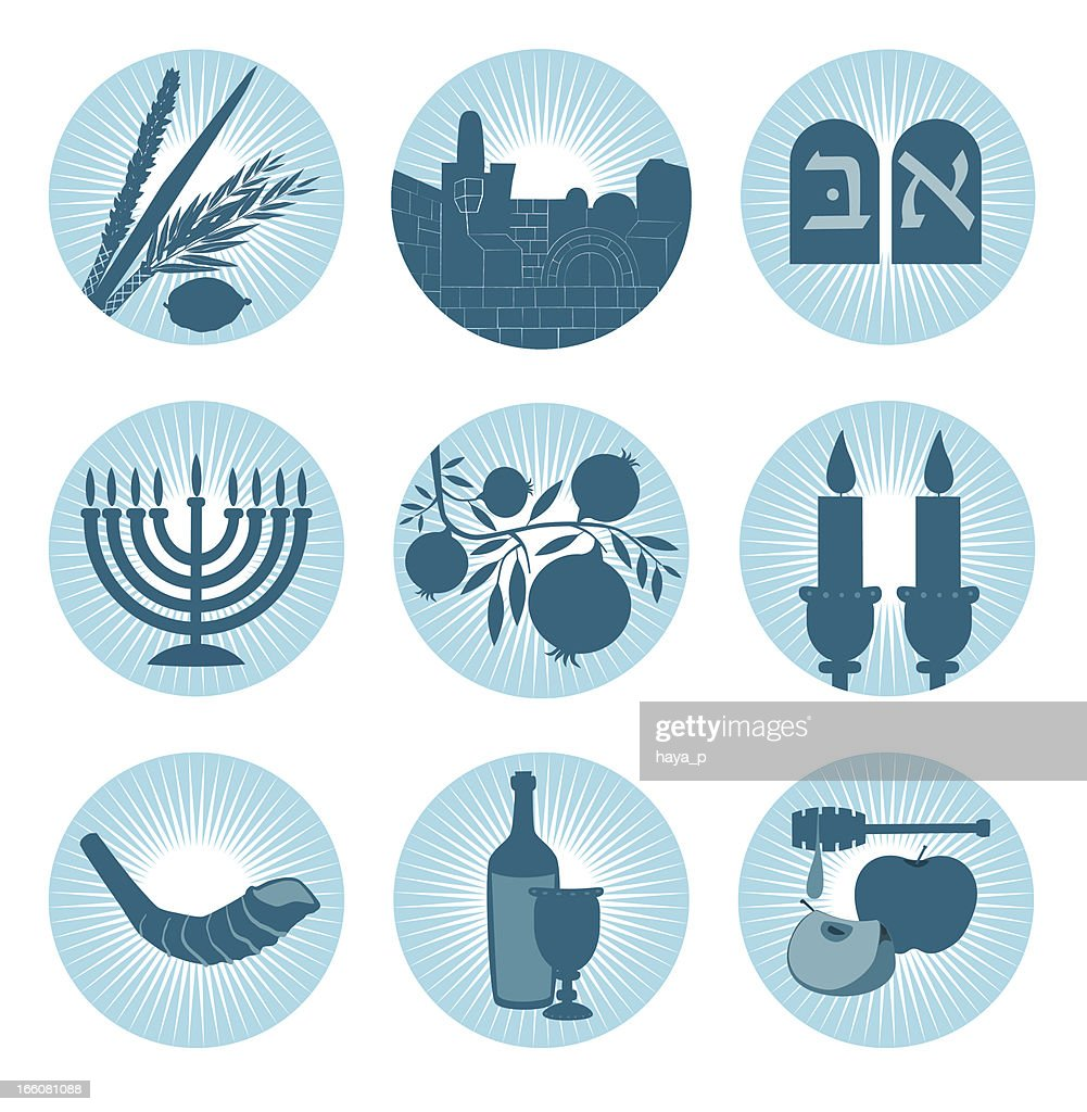 Jewish Symbol Icons Vector Art Getty Images