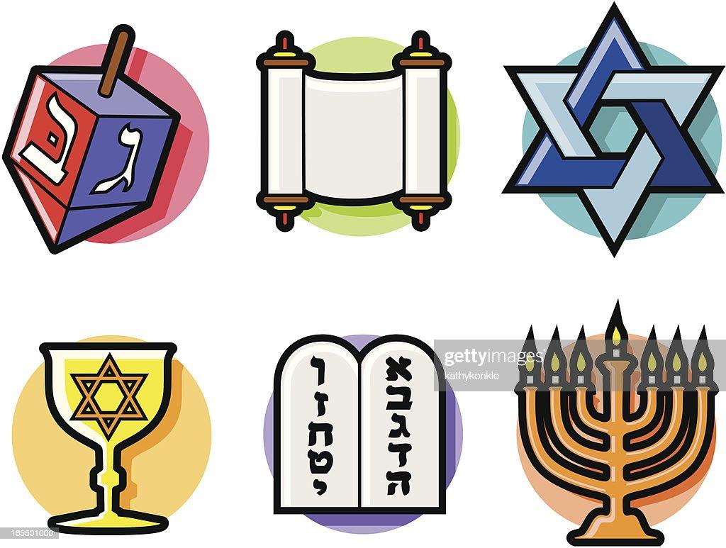 jewish symbols vector art getty images rh gettyimages com jewish symbols clip art free Dreidel Symbols