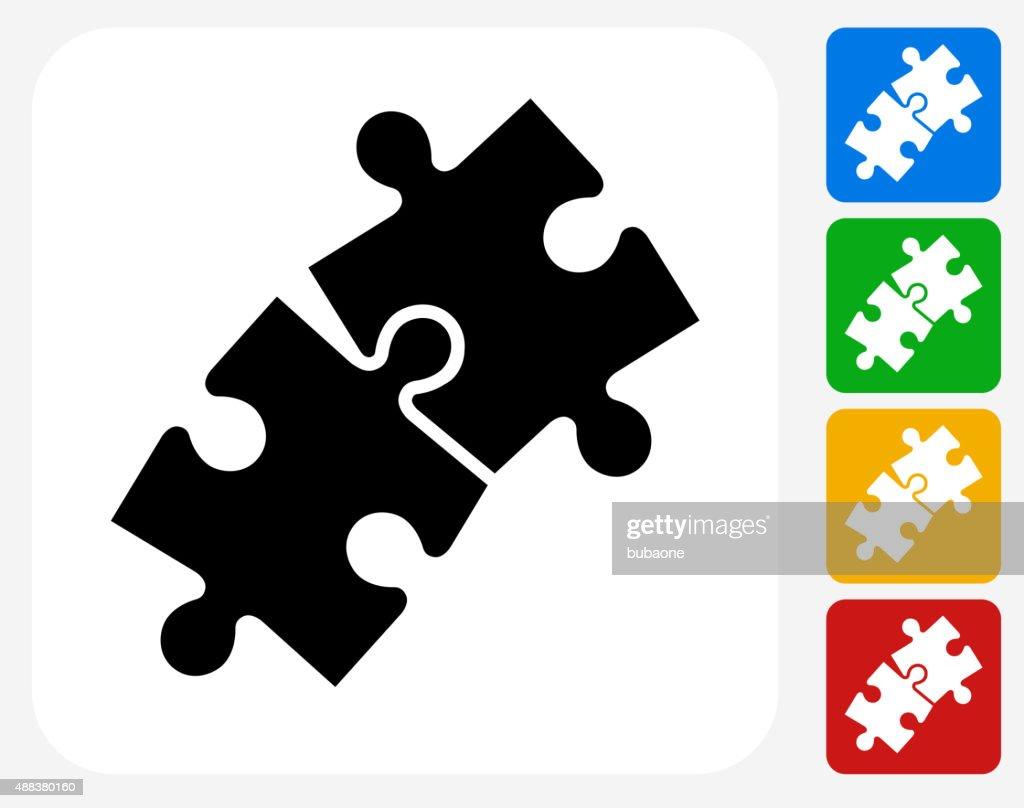 Jigsaw Icon Flat Graphic Design