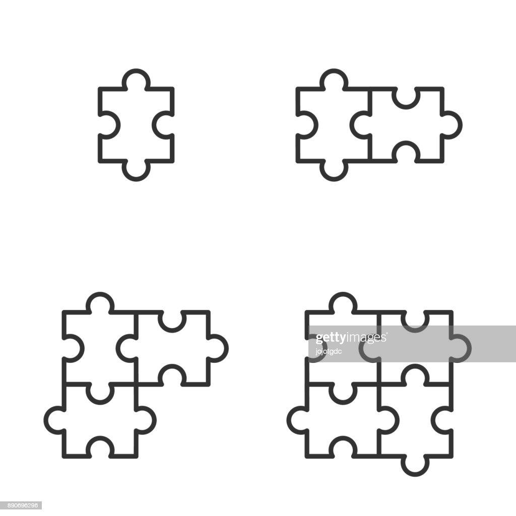 jigsaw icons vector illustration