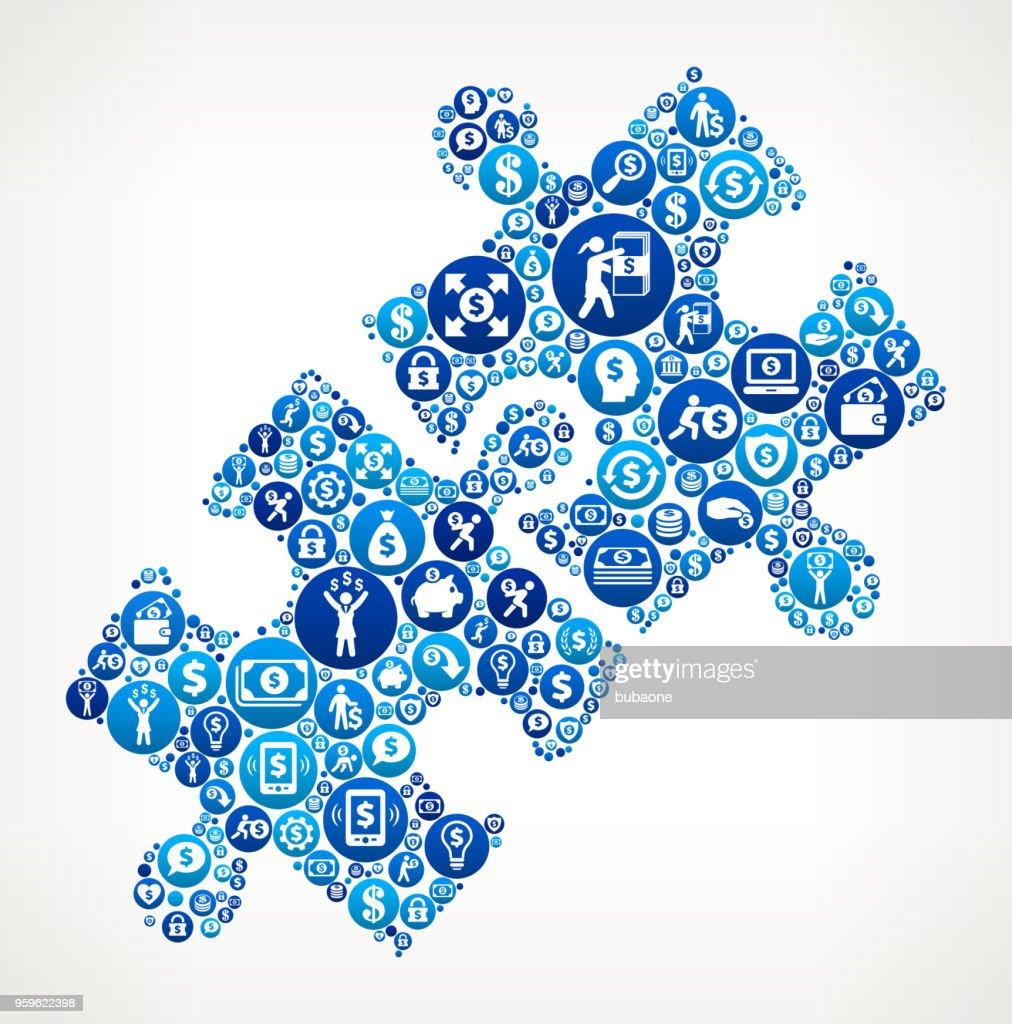 Stichsäge Geld blaues Symbol Muster Hintergrund : Stock-Illustration