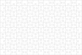 Jigsaw puzzle blank template of 150 pieces, horizontal