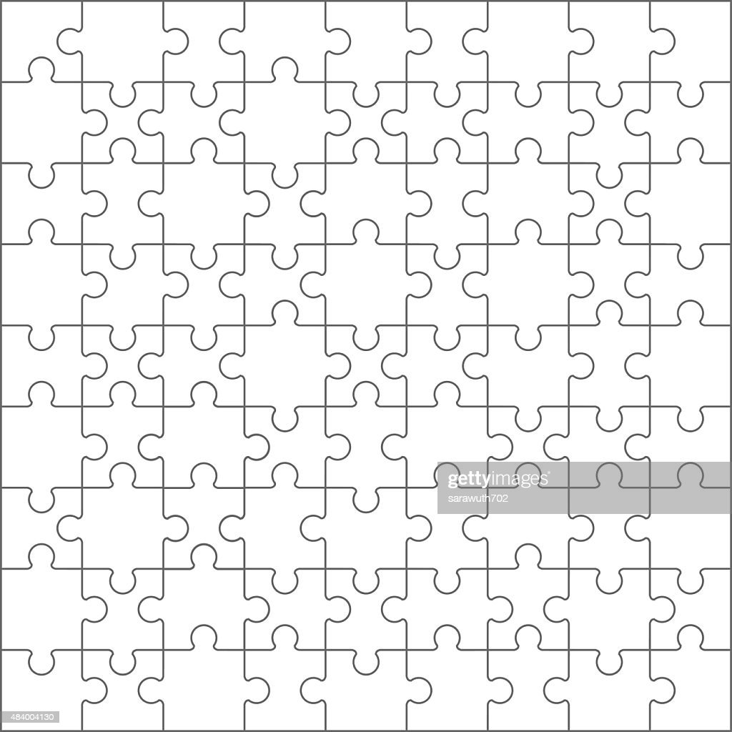 Jigsaw puzzle blank template.vector