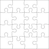 Jigsaw puzzle blank.