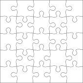 Jigsaw puzzle blank.