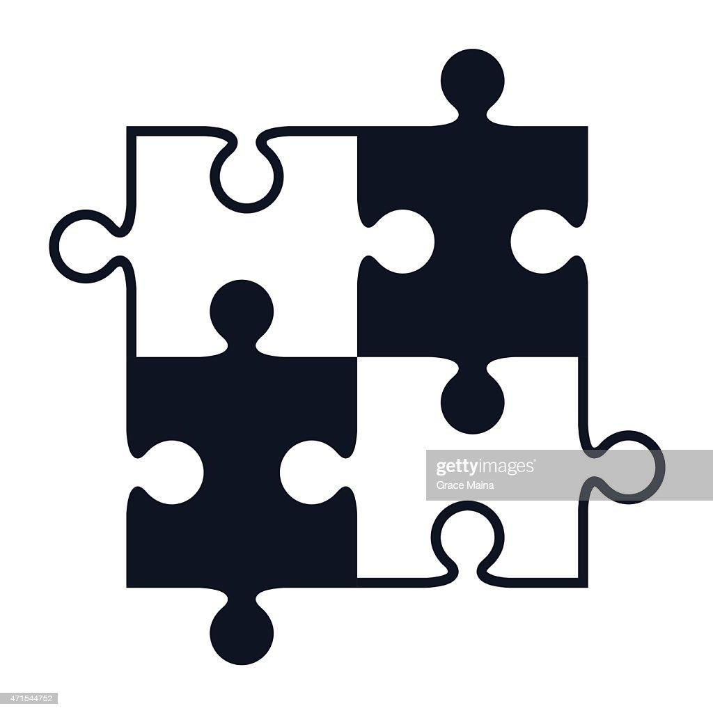 jigsaw puzzle pieces vector vector art getty images rh gettyimages com puzzle piece vector file puzzle pieces vector art