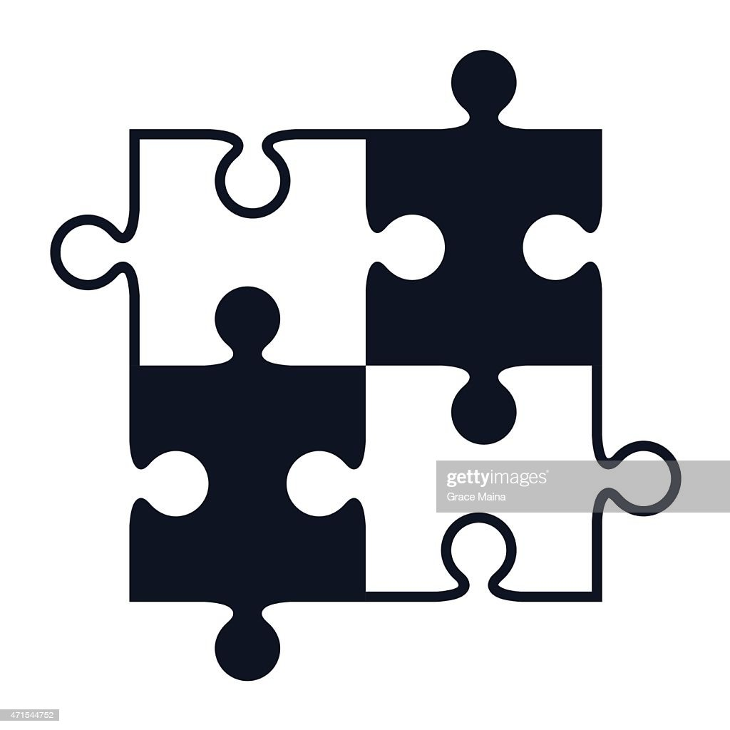 Jigsaw Puzzle Pieces Vector Art Getty Images Rh Gettyimages Com Cross Shaped Puzzles Piece Clip Black And White