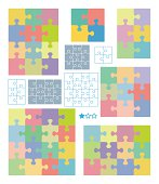 Jigsaw puzzle templates and patterns