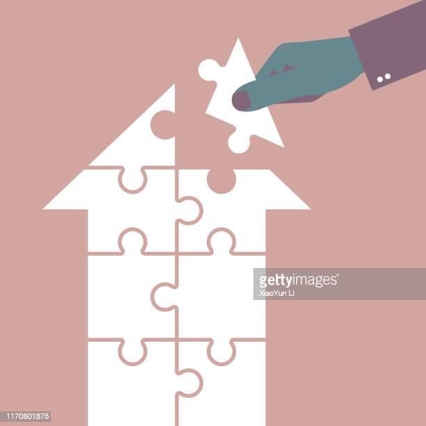 puzzle - stichsäge stock-grafiken, -clipart, -cartoons und -symbole
