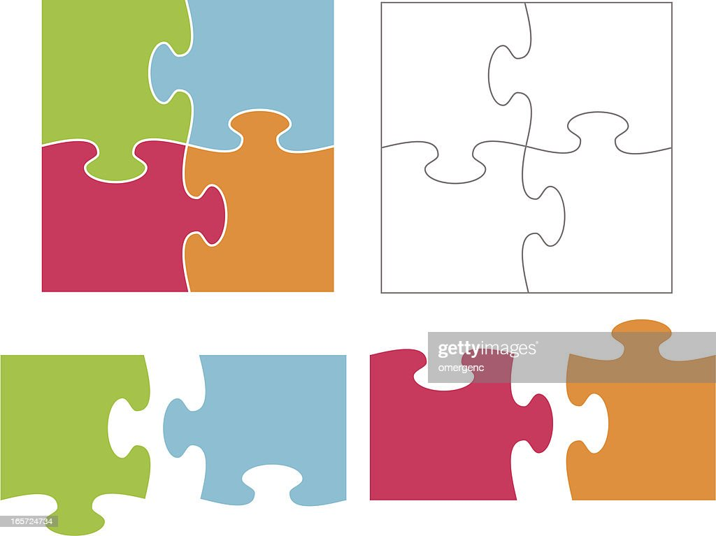 jigsaw puzzle vector art getty images rh gettyimages com puzzle vector files download puzzle vector free download