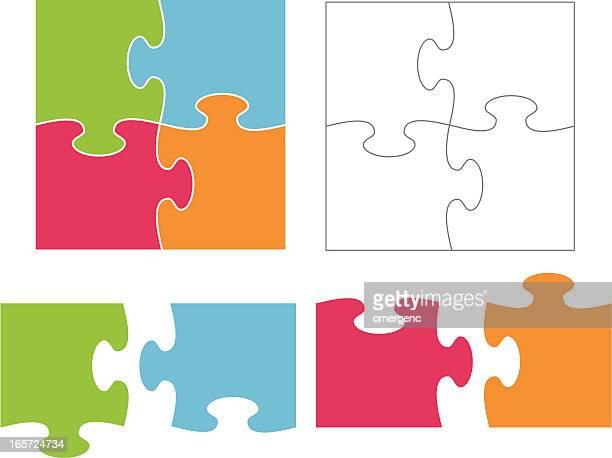 jigsaw puzzle - jigsaw piece stock illustrations, clip art, cartoons, & icons