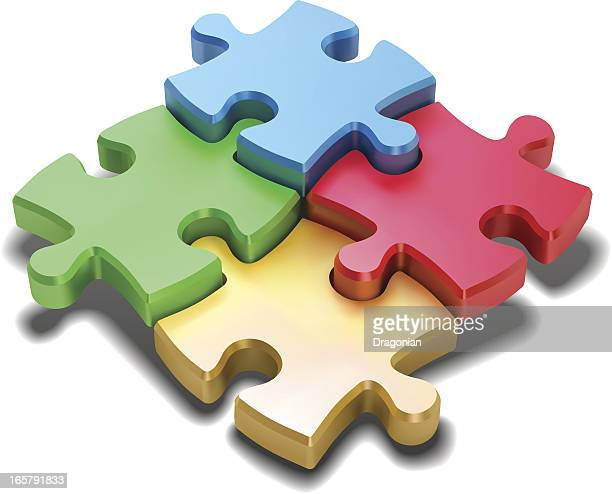 jigsaw puzzle - jigsaw stock illustrations