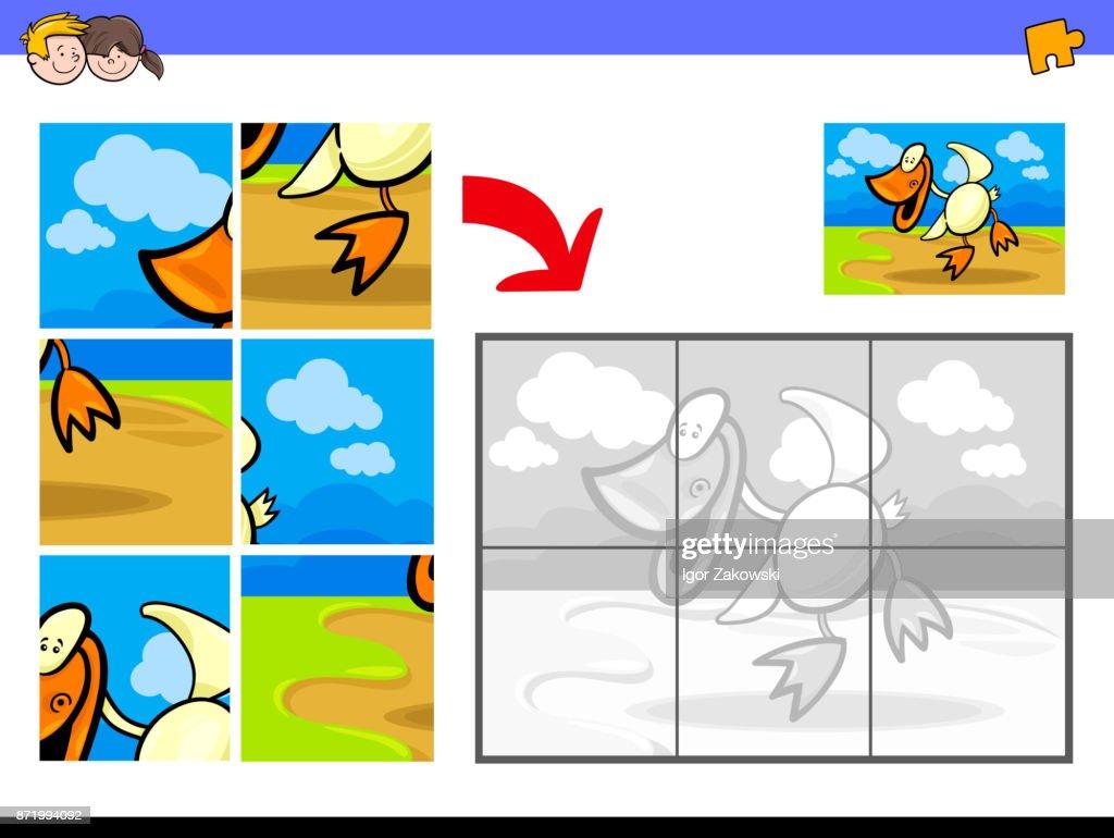 jigsaw puzzles with duck bird farm animal
