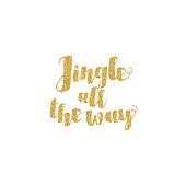 Jingle all the Way Christmas carol inspirational quote. Elegant Ink